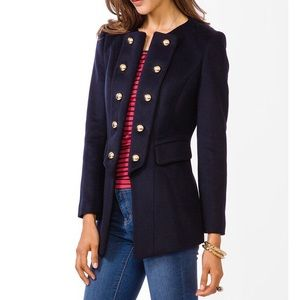 Forever 21 Navy Military Style Coat